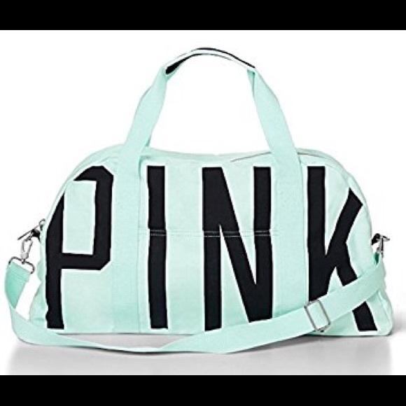 963e2daeb962 PINK - mint green duffel bag. M 5a5e877d3a112e5b4bb72c69